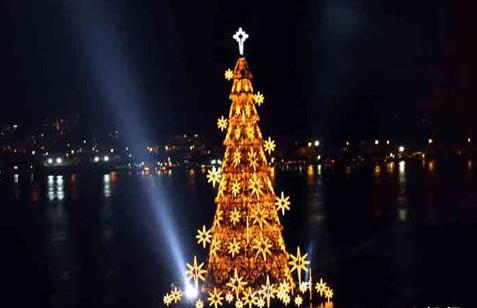 世界上最大的水上圣诞树